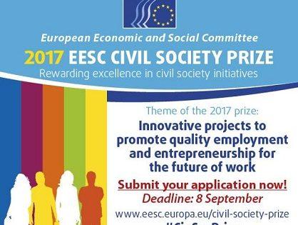 Súťaž: Cena pre občiansku spoločnosť za rok 2017