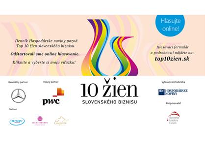Ocenenie TOP 10 žien slovenského biznisu – 7. ročník